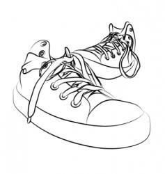 Vector sneakers vector