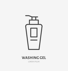 washing gel flat line icon beauty care sign vector image