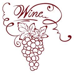 Wine title vector