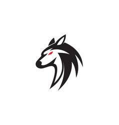 wolf design vector image