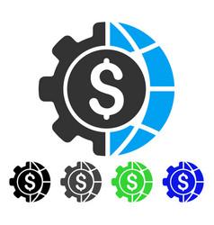 World industry finances flat icon vector
