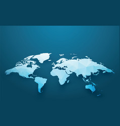 world map blue ice style vector image