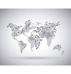 World mobile design vector
