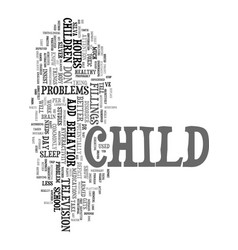 your child has add text word cloud concept vector image