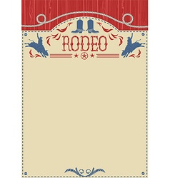 American cowboy rodeo poster for textCowboy riding vector image