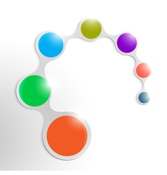 Clean element infographic with colorful circles vector