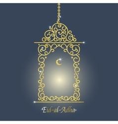 Gold Lantern Card vector image