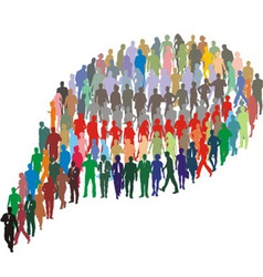 A group of people in the form of bubble vector image vector image