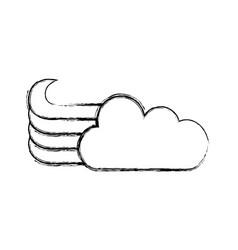 Cute fantasy cloud icon vector