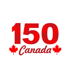 fireworks on canada 150 vector image vector image