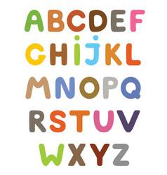 funny colorful cartoon alphabet alphabetical vector image