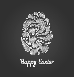 Greeting card with doodle easter egg-4 vector image vector image