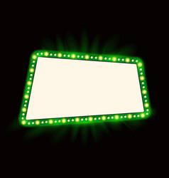 retro showtime 1950s frame design neon lamps vector image