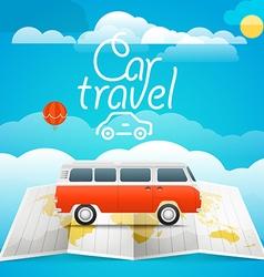 Vacation concept car travel vector