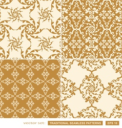 Vintage cream backgrounds vector image