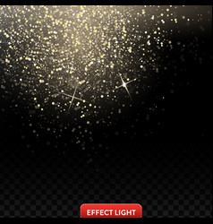 a falling shiny golden glitters confetti on a vector image vector image