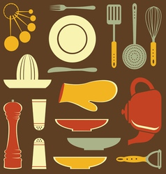 Cooking set vector image vector image