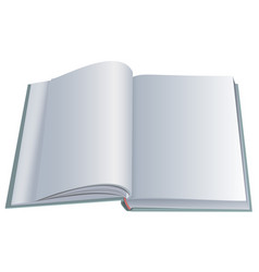 new open book with clean blank sheets vector image vector image