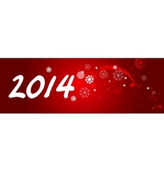 New Year banner vector image vector image