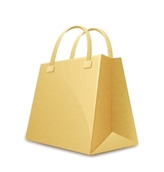 Paper shopping bag vector image vector image