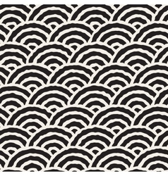 Seamless Hand Drawn Oriental Circles vector image