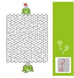 Frogs maze game with answer vector
