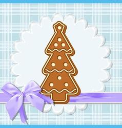 gingerbread tree vector image vector image
