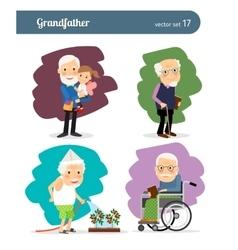 Grandfather cartoon character vector image