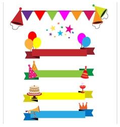 Ribbon party celebration vector image