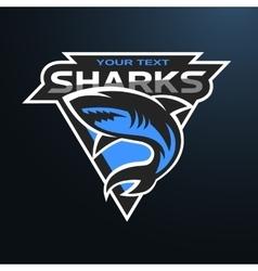 Sharks logo emblem for a sport team vector