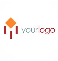 Square business logo vector