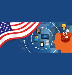 usa america it information technology digital vector image vector image