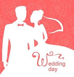 wedding day rose vector image