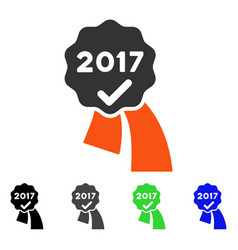2017 approve seal flat icon vector