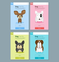 Animal banner with Dog for web design 5 vector image