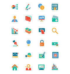 Banking and Finance Colored Icons 6 vector image