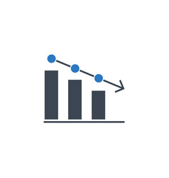 bar chart related glyph icon vector image