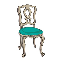 Baroque chair vector