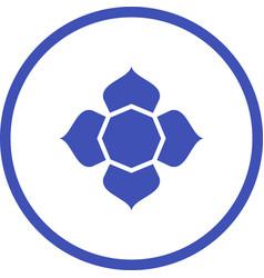 Beautiful islamic star glyph icon vector