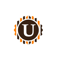 Best quality letter u vector