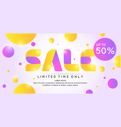 best sale banner original poster for discount vector image