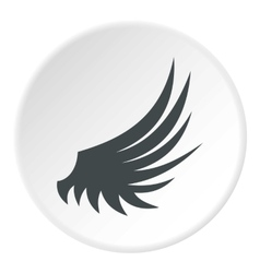 Birds wing icon flat style vector