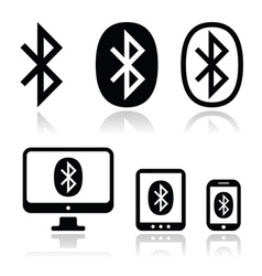 Bluetooth connection icons set vector image
