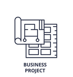 business project line icon concept business vector image