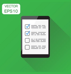 businessman checklist with tablet icon business vector image