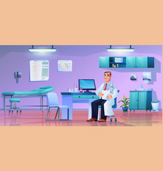 cabinet doctor practitioner in office room vector image