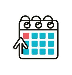 Calendar social media icon line and fill vector