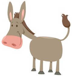 Cartoon donkey farm animal vector
