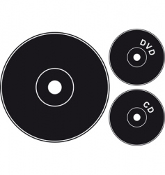 Cd black vector