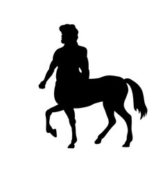 Centaur silhouette ancient mythology fantasy vector
